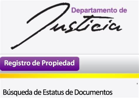 Departamento De Justicia Registro Propiedad | departamento de justicia registro de la propiedad