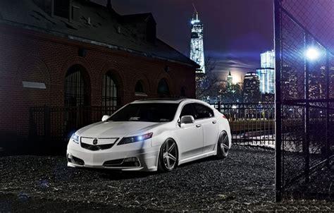Wallpaper Night The City Tuning White Honda Honda