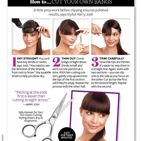 How to cut bangs   Pearltrees