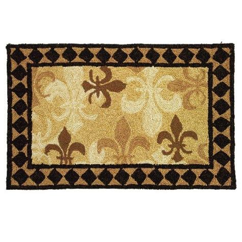 Fleur De Lis Outdoor Rug How Do You Want Homefires Fleur De Lis 3 By 5 Indoor Outdoor Hooked Area Rug