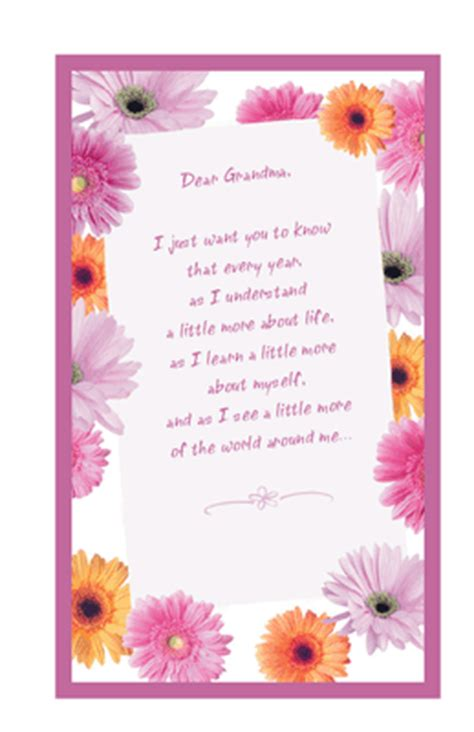 printable birthday cards for grandma to my wonderful grandma greeting card mother s day
