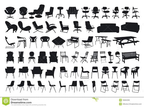 White Leather Dining Room Chairs chair silhouette stock photo image 18584290