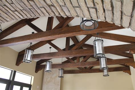 faux truss system faux beams beams