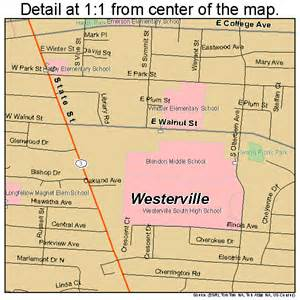 Westerville Ohio Map by Westerville Ohio Street Map 3983342