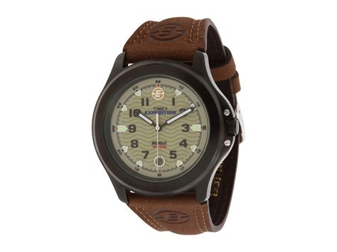 Expedition E6700 Silver Black Leather Brown For timex metal field expedition 174 brown leather in metallic for lyst