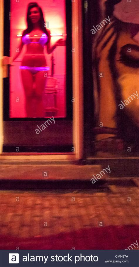 Armchair For Kids In Window Red Light District Amsterdam Stock Photo