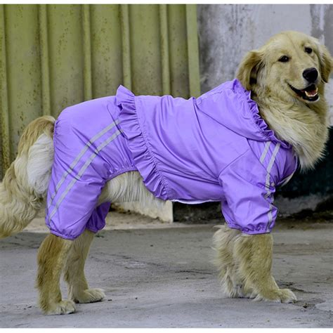 clothes for golden retrievers golden retriever waterproof clothing for large raincoat happierpets