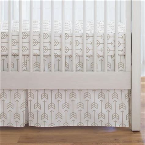Taupe Crib Skirt by Taupe Arrow Crib Skirt Single Pleat Carousel Designs