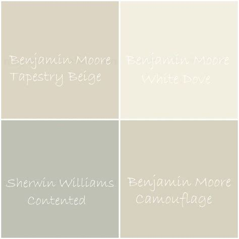 soothing tranquil neutral color palette