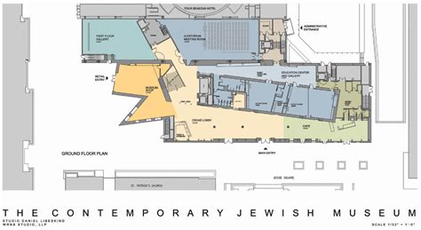 floor plan of museum jewish contemporary museum san francisco daniel