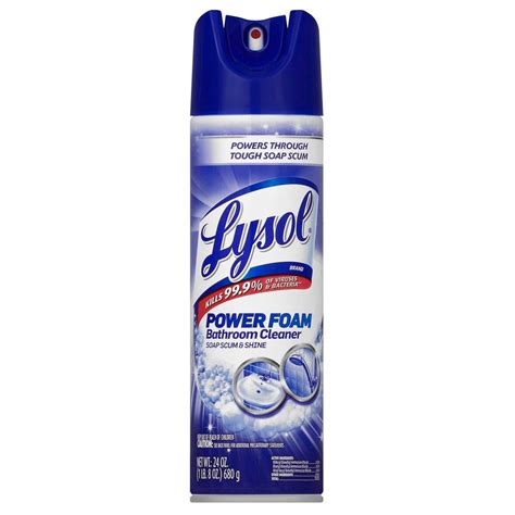 oz bathroom lysol 24 oz bathroom cleaner aerosol 19200 02569 the home depot