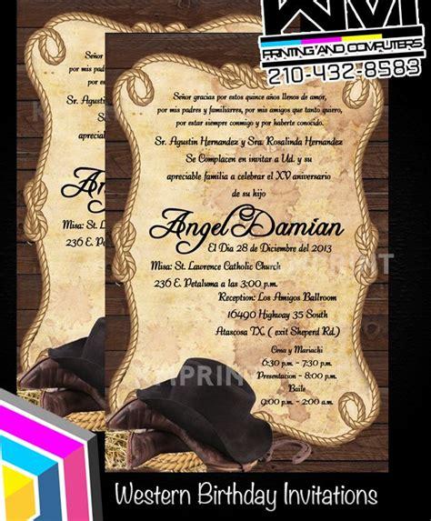western cowboy theme invitation birthday wedding custom invitations more by