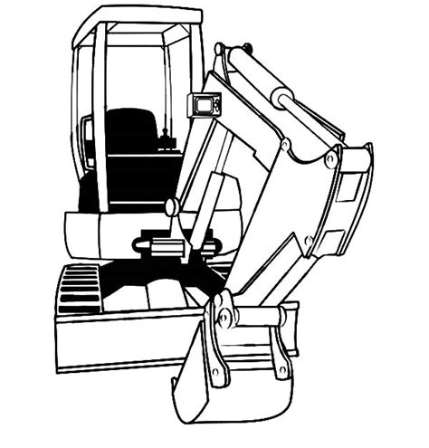 mini excavator coloring pages mini excavator coloring pages download print online