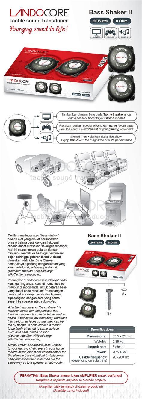 Landocore Bass Shaker I buy new innovation landocore bass shaker ii for home