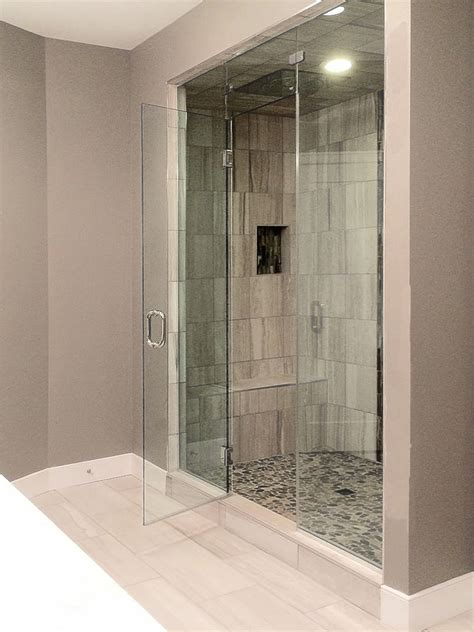 Frameless Steam Shower Doors Frameless Inline Shower Enclosures