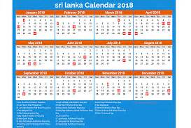 Calendar 2018 Sri Lanka Srilanka 2017 Calendar Printable For Free India