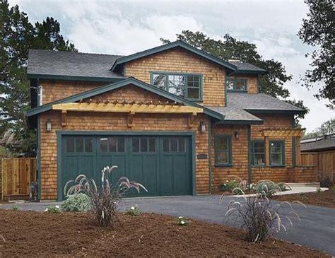 house plans the garage a cedar homes natural cedar shingle craftsman home with dark green