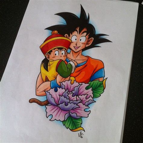gohan tattoo gohan and goku design by hamdoggz deviantart on