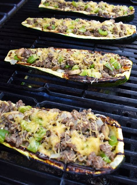 stuffed zucchini boats grilled best 25 grilled zucchini boats ideas on pinterest