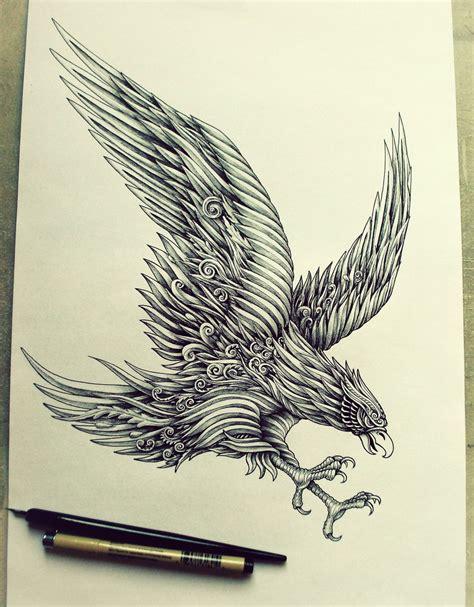 tattoo pen india eagle i have created specially for fc vitesse arabesco