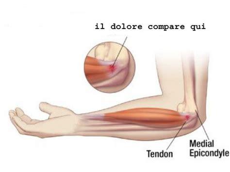 dolore braccio sinistro interno epitrocleite gomito golfista