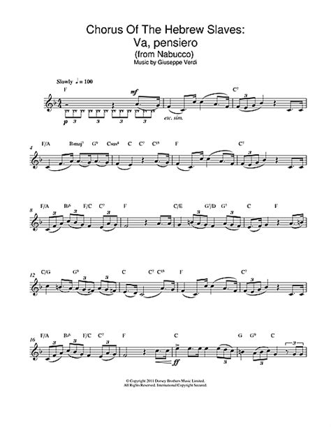 testo va pensiero va pensiero chorus of the hebrew slaves from nabucco