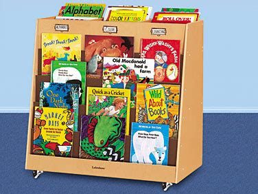 classic birch store display mobile book center at