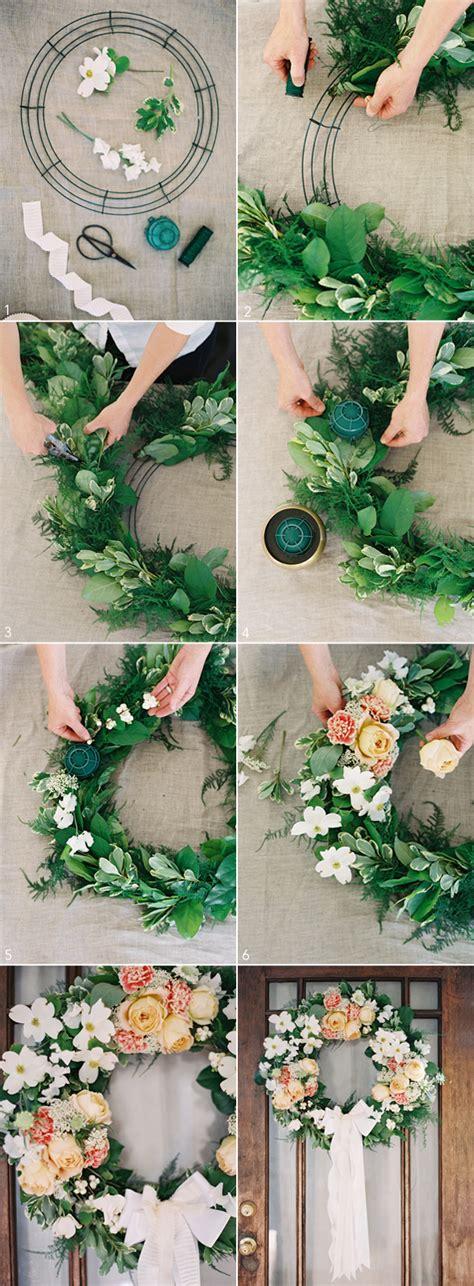 diy wedding wreath  wed
