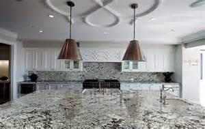 Blue Gray Kitchen Cabinets lennon granite