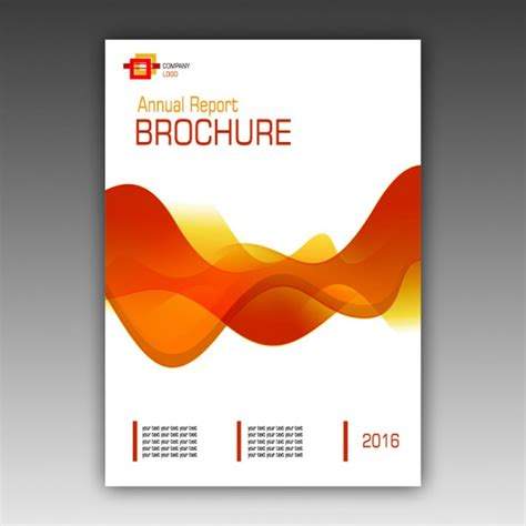 orange brochure template psd file free download