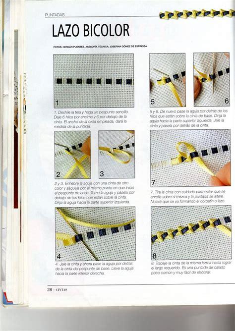 cenefas bordadas bordados con cintas calados cenefas con cinta de seda y