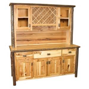 hickory buffet amp hutch with wine rack 75 inch