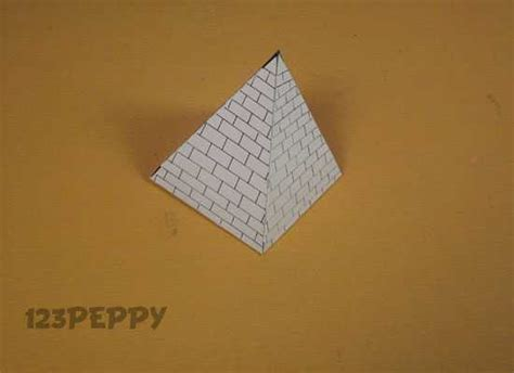 pyramid craft project how to make a pyramid 123peppy