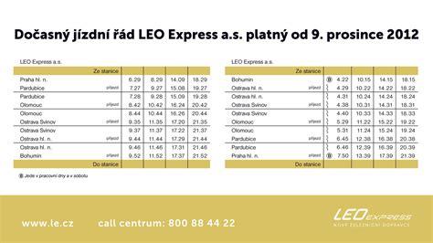 aktualne jizdni rady leo express vykročil do nov 233 ho gvd vlaky net