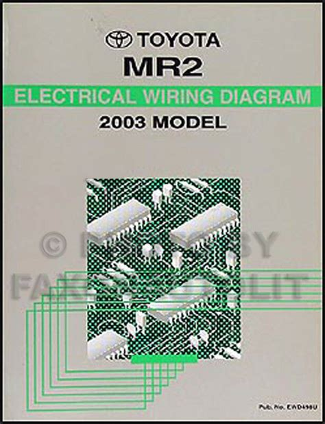 free service manuals online 2003 toyota mr2 parental controls new 2003 toyota mr2 wiring diagram manual mr 2 electrical schematics shop repair ebay