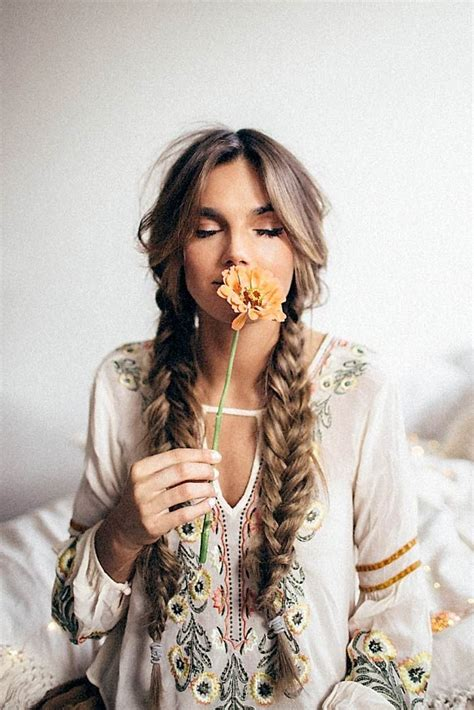 bohemian blowout hairstyles 170 best bohemian hairstyles images on pinterest