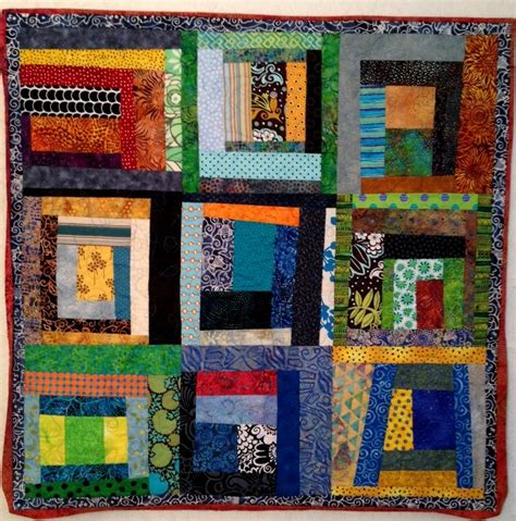 Log Cabin Baby Quilt by Baby Quilt Lazy Log Cabin