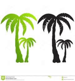 set of palm tree silhouettes vector royalty free stock photography image 25652547