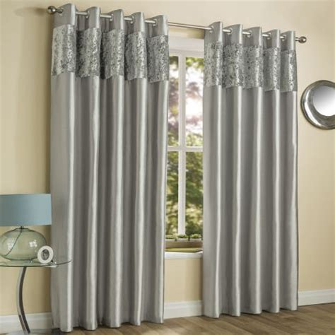 Satin Shower Curtain Amalfi Silver Crushed Velvet Eyelet Curtains