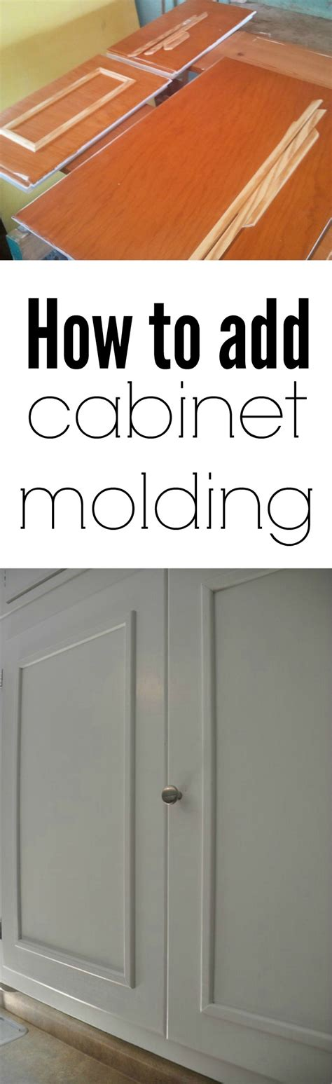 How To Add Molding To Cabinet Doors How To Add Cabinet Molding Decor And The