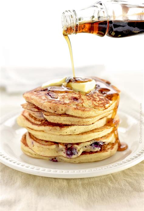 recipe blueberry pancakes yogurt blueberry pancakes recipe she wears many hats