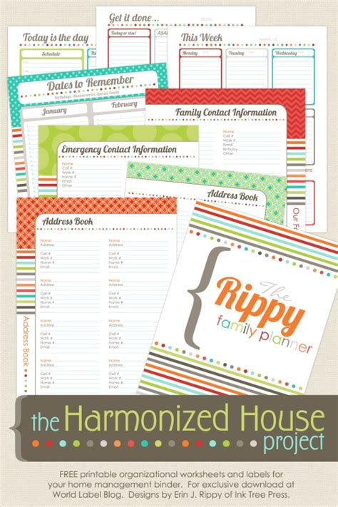 home organization plan 23 free printables to organize everything making lemonade