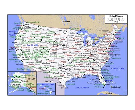 political map of usa maps of the usa detailed map of the usa the united