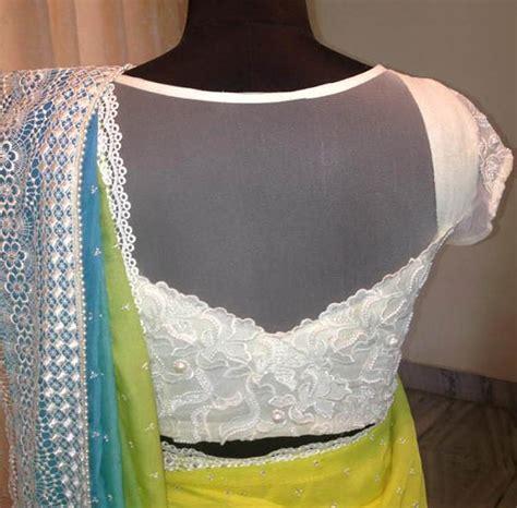 net pattern 2015 amazing back neck net blouse designs for designer net