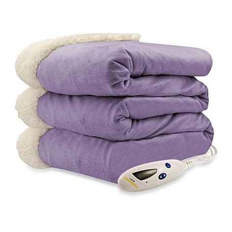Electric Blankets Bed by Buy Biddeford Blankets 174 Micro Mink Sherpa Electric Heated
