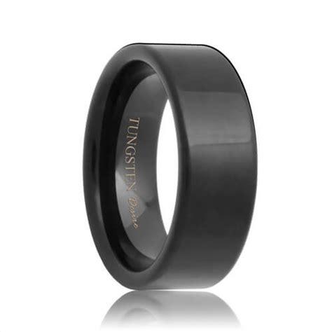 Wedding Bands Indianapolis by Indianapolis Flat Black Tungsten Carbide Wedding Ring