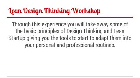 design thinking crash course lean design thinking crash course