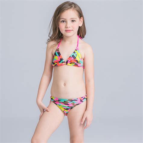 junior swimwear models bikini set junior girls children swimwear kids summer