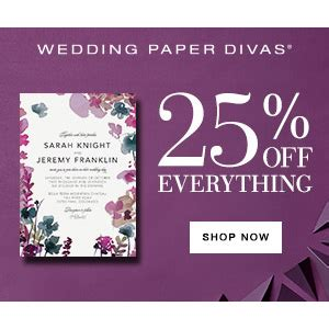 wedding paper divas promo wedding paper divas 25 any order mybargainbuddy