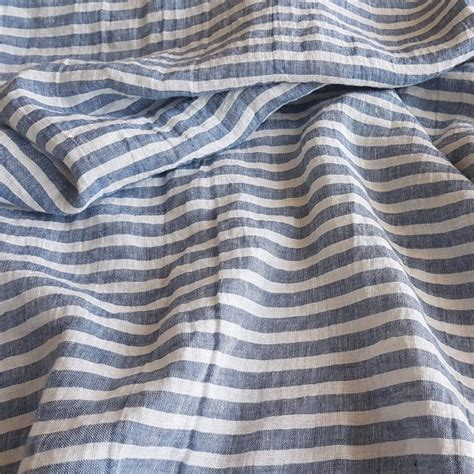 striped linen upholstery fabric wide striped linen fabric blue and white stripes